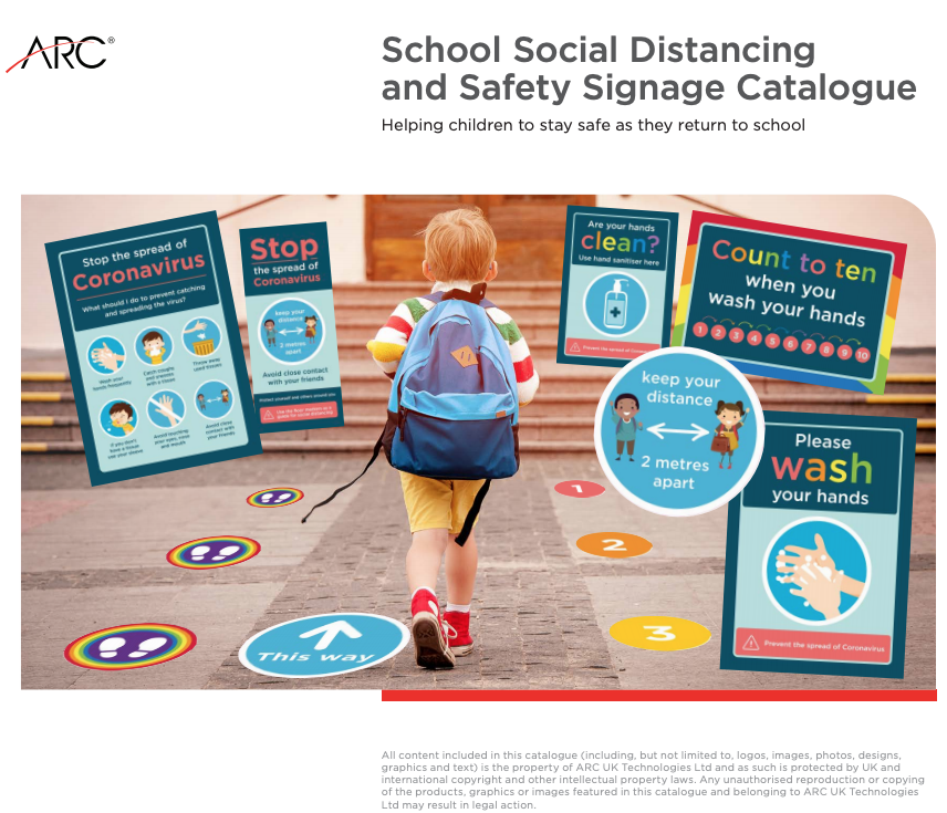 ARC has introduced a unique range of Social Distancing Materials to help your School remain free from Covid-19 and fully prepared for the safe return of Children, Teachers and Auxiliary Staff.